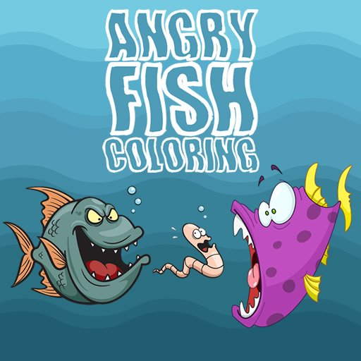 Angry Fish Coloring